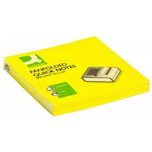 Bloczek samoprzylepny Q-CONNECT Brilliant Z-Notes, 76x76mm, 100 kart., jasnożółty