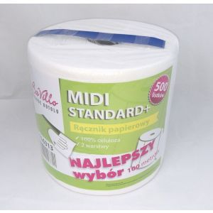 Ręcznik rola MIDI BaVillo Standard+ 500, celuloza, cena za opakowanie 6 rolek