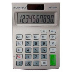 Kalkulator biurkowy Q-CONNECT 10-cyfrowy, 102x140mm, szary