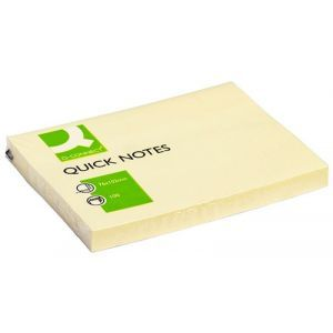 Bloczek samoprzylepny Q-CONNECT, 102x76mm, 1x100 kart., jasnożółty