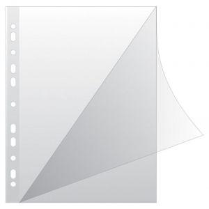 Koszulki na dokumenty Q-CONNECT, typ L, PP, A4, krystal, 100mikr., 100szt., transparentna