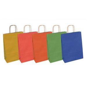 Torebka na prezenty OFFICE PRODUCTS, papierowa, 18x8x22,5cm, jednolita, całoroczna, mix wzorów