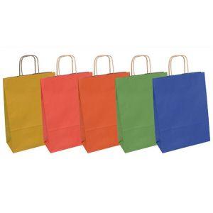 Torebka na prezenty OFFICE PRODUCTS, papierowa, 24x10x32cm, jednolita, całoroczna, mix wzorów