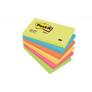 Post-it® Notes Energetic Colours, 6 Pads, 76 mm x 127 mm