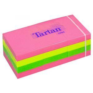 Tartan™ Notes 3851N Neon Colours, 12 Pads, 38 mm x 51 mm