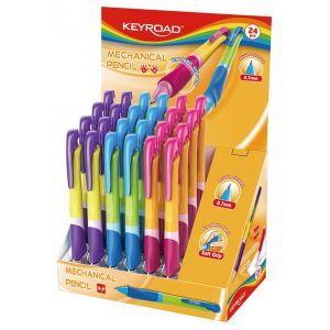 Ołówek automatyczny KEYROAD Easy Writer, 0,7mm., pakowany na displayu, mix kolorów