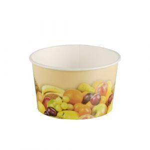Kubeczki do lodów 250ml, nadruk owoce, opakowanie 200szt