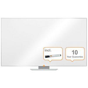 "Dry-wipe whiteboard, NOBO, 156x88cm, panoramic 70"", melamine, white"