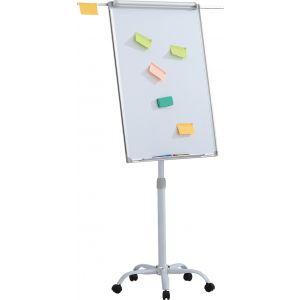 Flipchart mobilny OFFICE PRODUCTS, 70x100cm, tablica suchoś. -magn., aluminiowa rama, z wyciąganymi ramionami