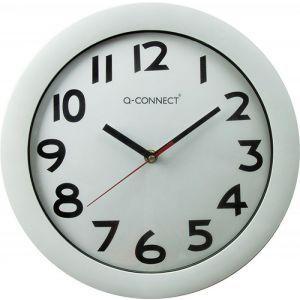 Zegar ścienny Q-CONNECT Budapest, 30cm, biały