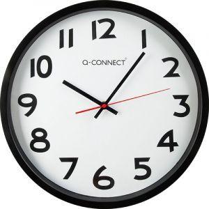 Zegar ścienny Q-CONNECT Wels, 34cm, czarny