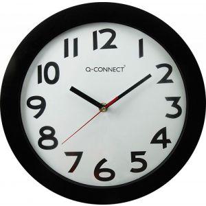 Zegar ścienny Q-CONNECT Tokyo, 30cm, czarny