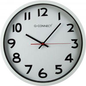 Zegar ścienny Q-CONNECT Warsaw, 34cm, biały