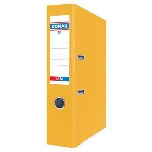 Segregator DONAU Life, neon, A4/75mm, żółty