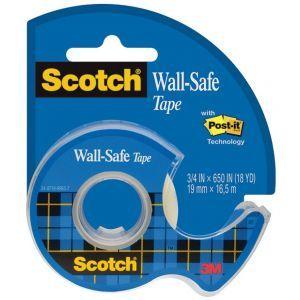 Taśma klejąca SCOTCH® Wall-Safe, bezpiec zna dla ścian, na podajniku, 19mm, 16,5m
