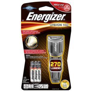 Latarka ENERGIZER Metal Vision HD + 3szt . baterii AAA, srebrna