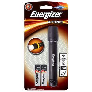 Latarka ENERGIZER X-Focus + 2szt. bateri i AA, czarna