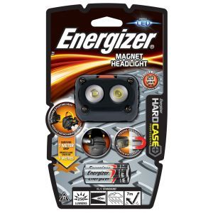 Latarka ENERGIZER Hard Case Magnet Headl ight + 3szt. baterii AAA, czarna