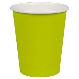 Kubek papierowy kolorowy kiwi 250ml, cena za opakowanie 50szt