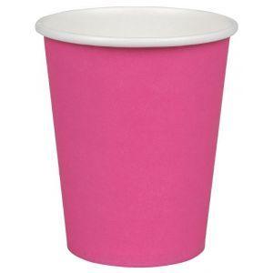 Kubek papierowy kolorowy różowy 250ml, cena za opakowanie 50szt