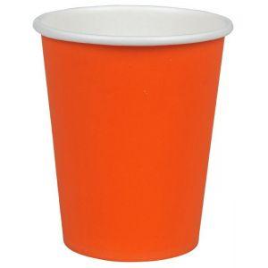 Kubek papierowy kolorowy pomarańczowy 250ml, cena za opakowanie 50szt