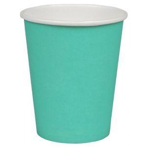 Kubek papierowy kolorowy turkusowy 250ml, cena za opakowanie 50szt