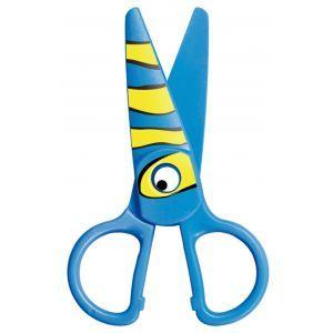 Nożyczki szkolne KEYROAD Kids Pro, 13cm,  bezpieczne, pakowane na displayu, mix k