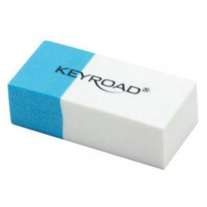 Gumka wielofunkcyjna KEYROAD, pakowane n a displayu, niebiesko-biała