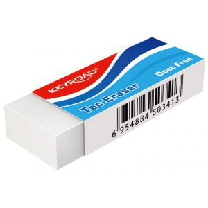 Gumka uniwersalna KEYROAD Tec, pakowane  na displayu, biała (20)