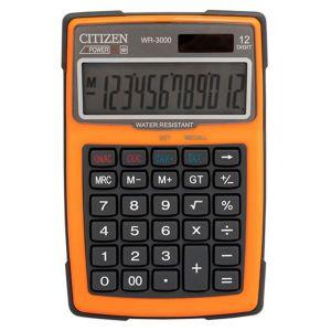 Kalkulator wodoodporny CITIZEN WR-3000,  152x105mm, pomarańczowy