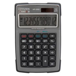 Kalkulator wodoodporny CITIZEN WR-3000,  152x105mm, szary