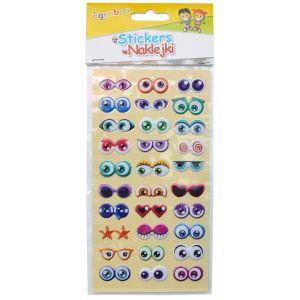 Naklejki GIMBOO Oczy, wypukłe, 9x17,5cm,  zawieszka, mix kolorów