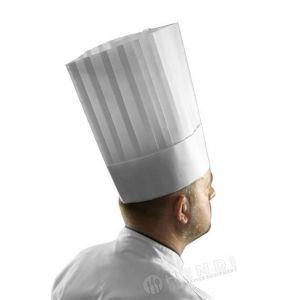 Czapka kucharska LE GRAND CHEF - zestaw 10 sztuk