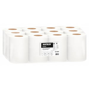 Towel roll KATRiN BASIC natural white 1-ply, 12 rolls