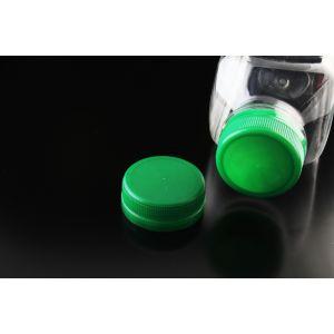 Nakrętka 38 do butelki PET gwint 38mm 2start dwuzwojowa kolor zielony, opakowanie 100szt
