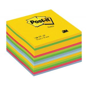 Post-it® Notes Cube Ultra Colours, 76 mm x 76 mm 450 sheets