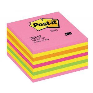 Kostka samoprzylepna POST-IT® (2028-NP),  76x76mm, 1x450 kart., cukierkowa różowa