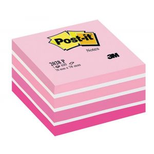 Post-it® Notes Cube Pastel Pink, 76 mm x 76 mm 450 sheets