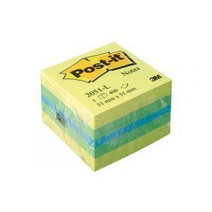 Mini Kostka samoprzylepna POST-IT® (2051 L), 51x51mm, 1x400 kart., cytrynowa