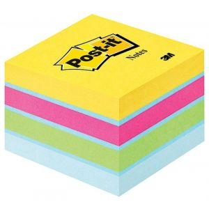 Post-it® Notes Mini Cube Ultra Colours, 51 mm x 51 mm 400 sheets