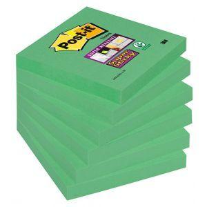 Bloczek samoprzylepny POST-IT® Super Sticky (654-6SS-AW), 76x76mm, 1x90 kartek, zielony