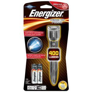 Latarka ENERGIZER Metal Vision Focus HD  + 2szt. baterii AA, srebrna