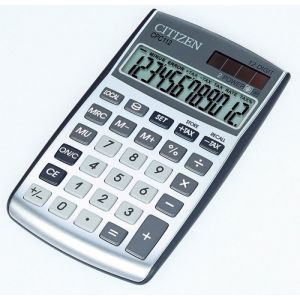 Office calculator CITIZEN CPC-112 WB, 12 digits, 120x72mm, silver