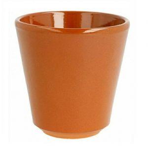 Gliniany kubek 200ml śr.8xh.6,7cm terracotta