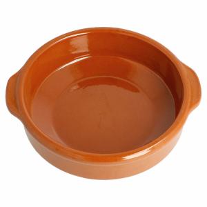 Gliniane naczynie okrągłe śr.15xh.4,5 cm terracotta