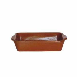 Gliniane naczynie prostokątne 18x13,2x4cm terracotta