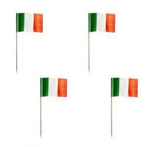 Wykałaczki bankietowe PARTY 8cm flaga Włoska opakowanie 500szt