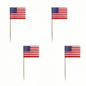 Wykałaczki bankietowe PARTY 8cm flaga Ameryki opakowanie 500szt