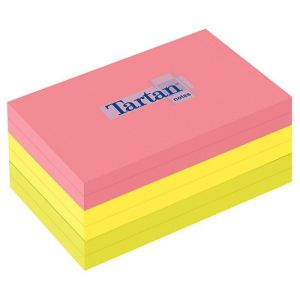 Bloczek samoprzylepny TARTAN™ (12776-N),  127x76mm, 6x100 kart., mix kolorów
