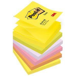 Bloczek samoprzylepny POST-IT® Z-Notes ( R330-NR), 76x76mm, 6x100 kart., neonowy